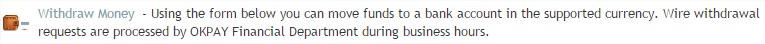 retirer argent okpay