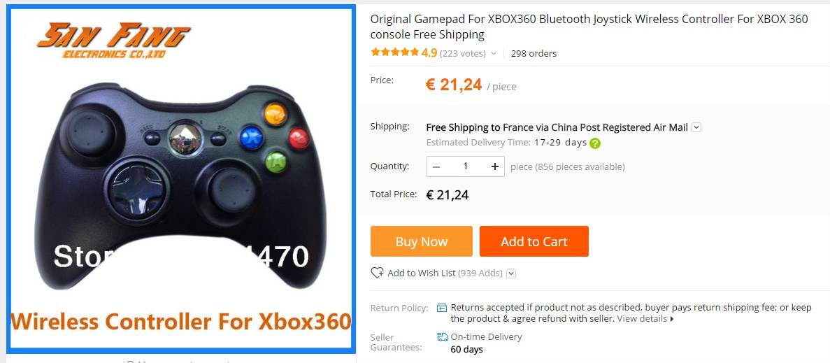 manette xbox aliexpress 360