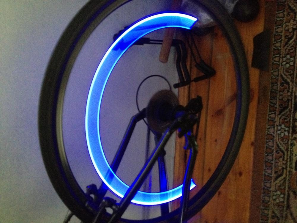 visibilité velo nuit roue led