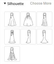 silouhette robe