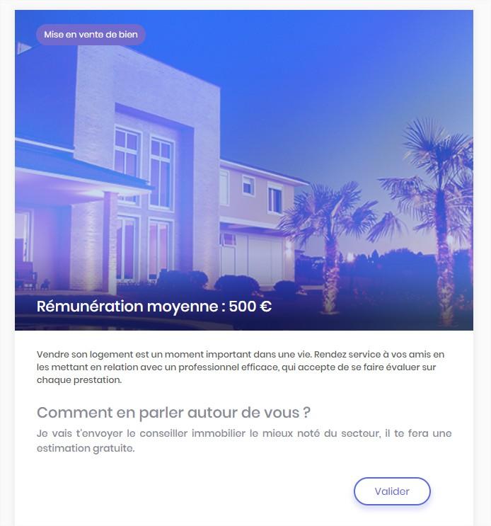5 Voici Ce Qui Saffiche Lorsque Vous Selectionnez Un Bien Immobilier La Remuneration Moyenne Est De 500EUR En Cas Vente