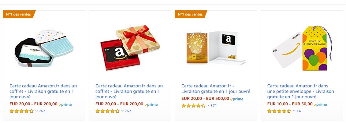 achat carte amazon sms+