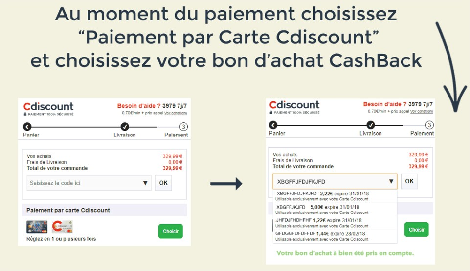 Cashback Cdiscount comment
